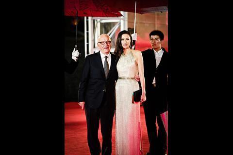 Media tycoon Rupert Murdoch and wife Wendi Deng Murdoch